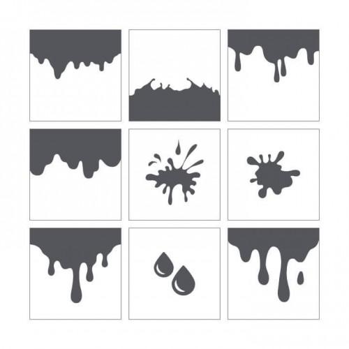 Stencil 16 - Drops