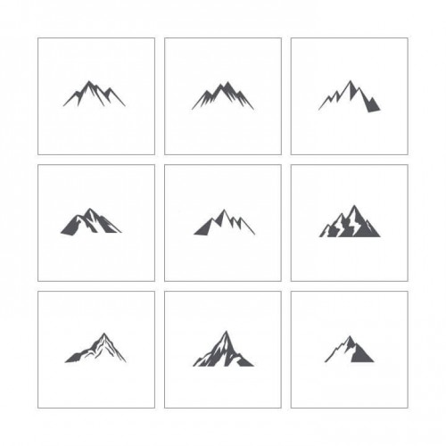 Stencil 17 - Mountains